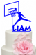 Basketball Player with Personalised name Cake Acrylic Topper